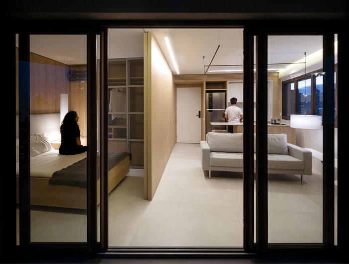 42 sq m open floor plan apartment Sao paulo 5