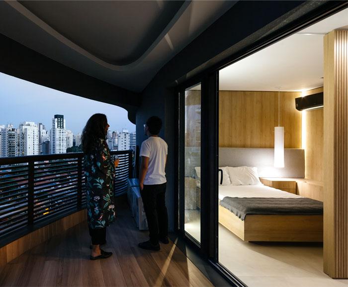42 sq m open floor plan apartment Sao paulo 7