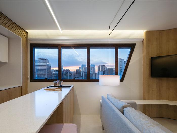 42 sq m open floor plan apartment Sao paulo 8