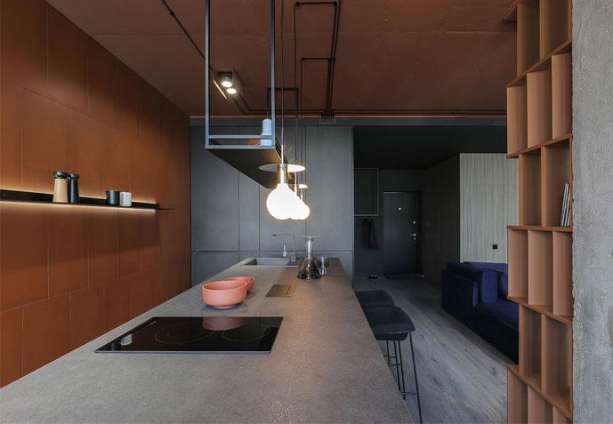 sobo studio sienna color apartment 1