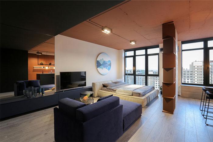 sobo studio sienna color apartment 7