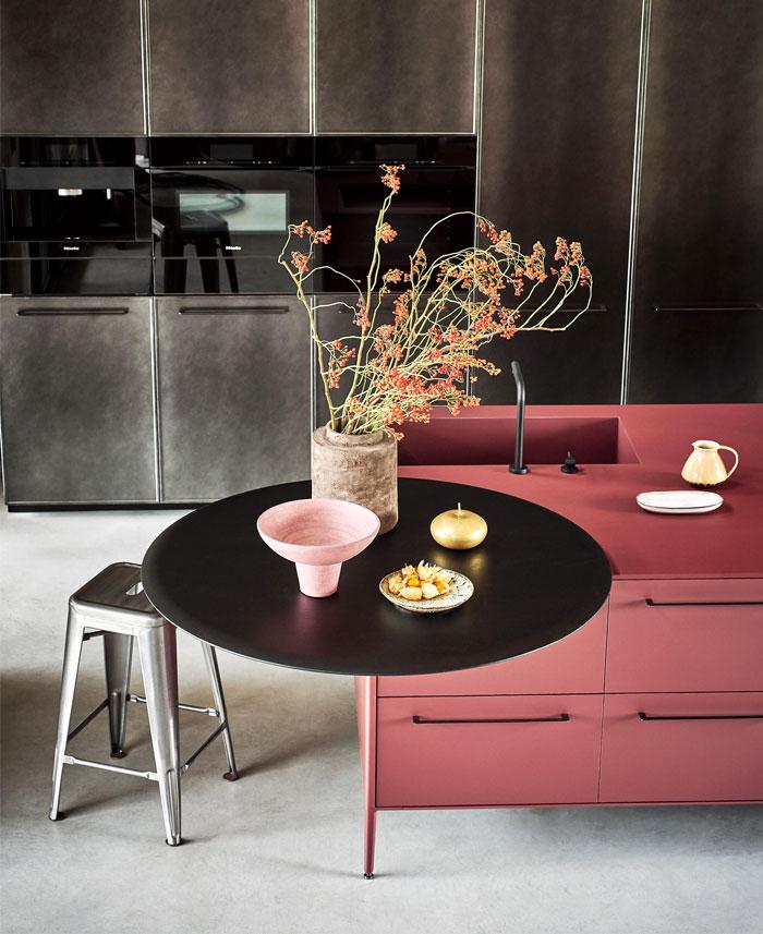 deep red kitchen 2