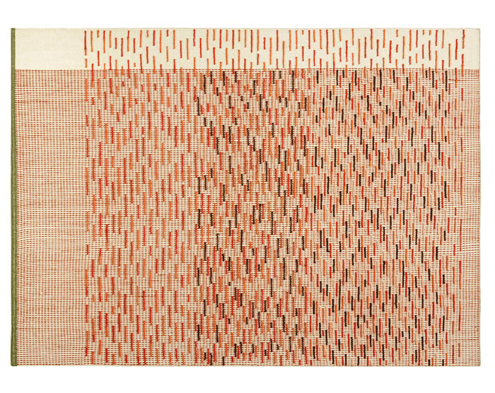 kilim raw edges backstitch busy brick 1