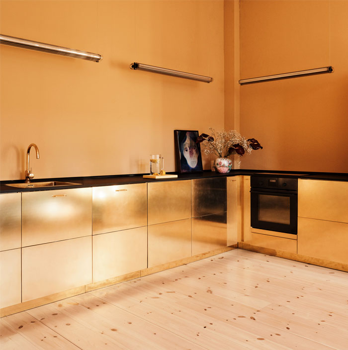 metal kitchen cabinets glamorous look 12