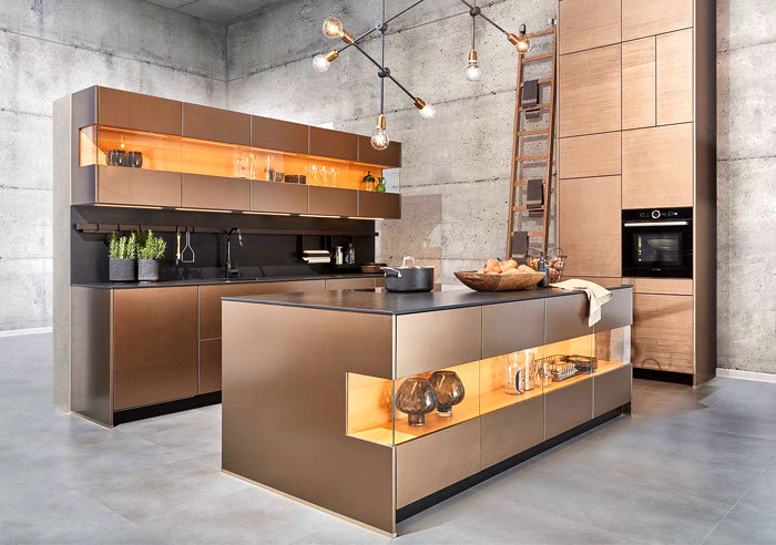 metal kitchen cabinets glamorous look 33