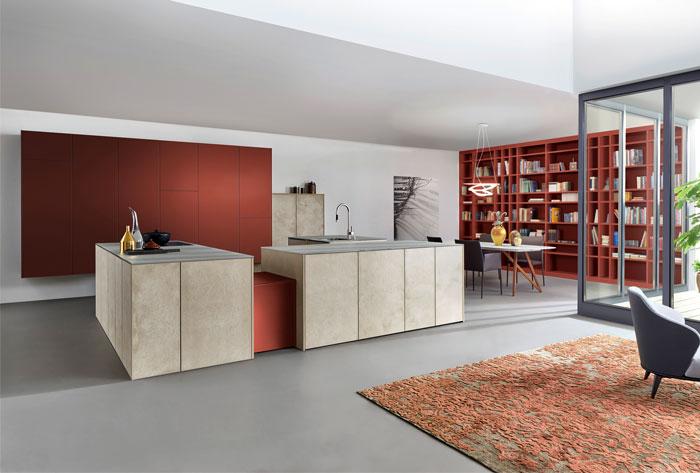 terracotta color kitchen