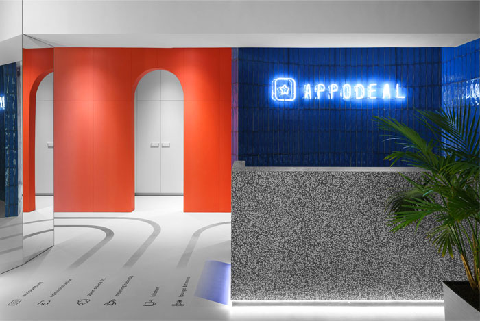 colorful appodeal office wayfinding system 4
