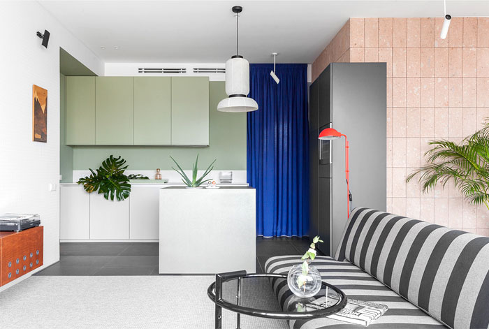 Cheerful Mix Of Color And Texture In Moscow Apartment Interiorzine