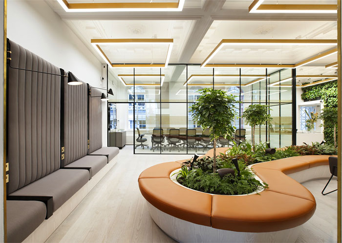 greenery office design one heddon street 7