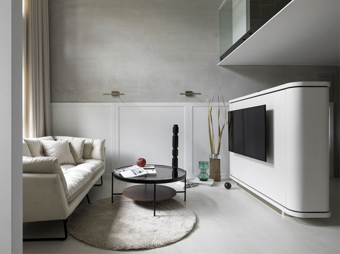 divider tv walls solution small urban dwellings 4