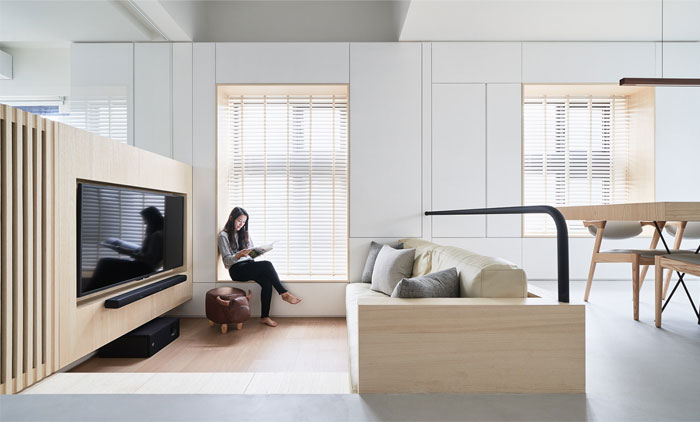 divider tv walls solution small urban dwellings 7