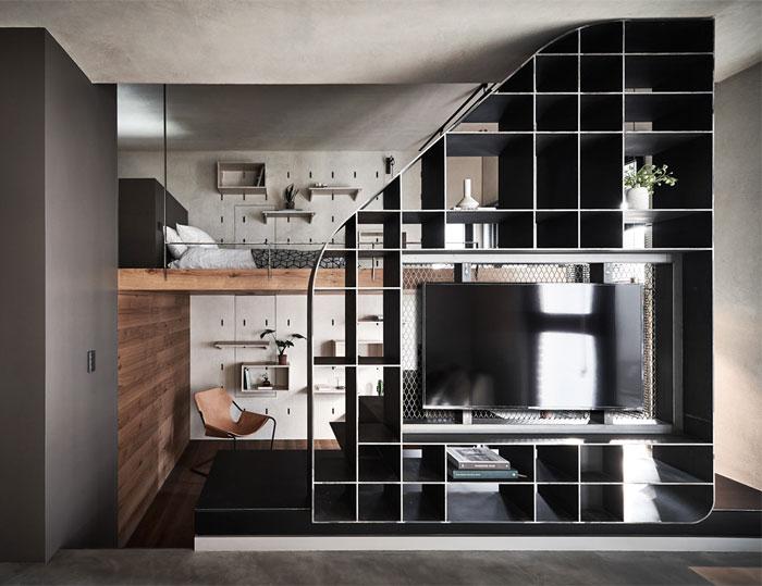 metal tv wall design ideas 4