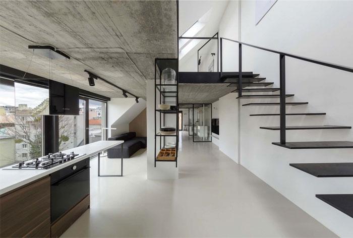 stylish mezzanine apartment bratislava 1