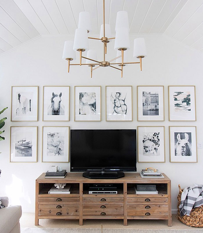 tv wall design wood 9