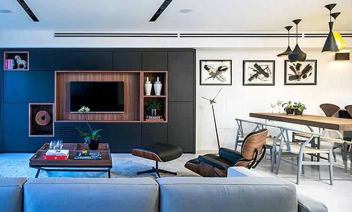 tv wall niche set arrangement 6