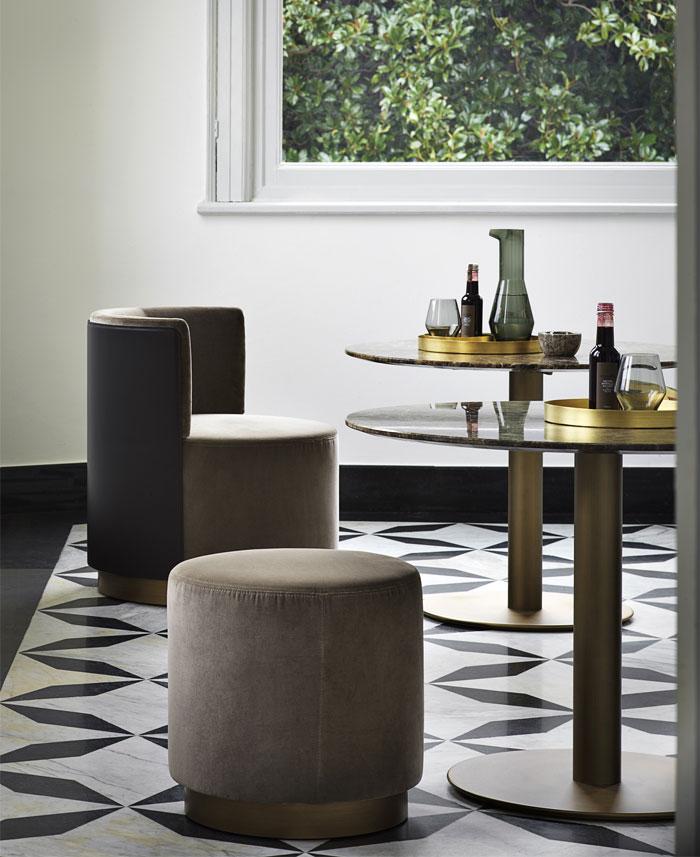 clubby lounge armchair pouf 6