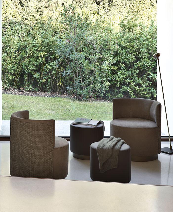 clubby lounge armchair pouf 8
