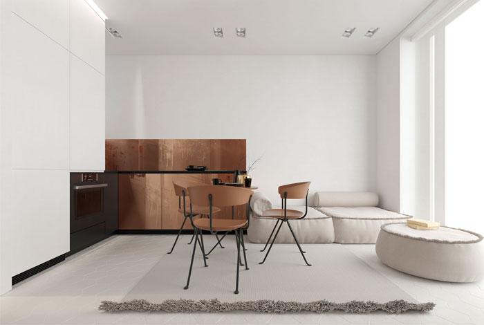 white studio apartment sirotov architects 1