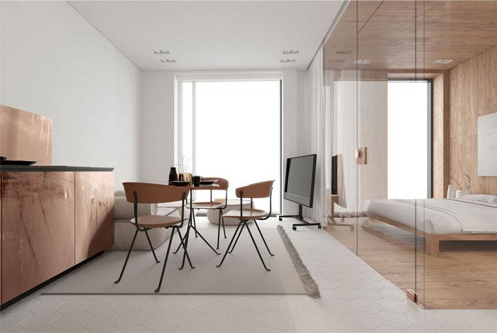 white studio apartment sirotov architects 2