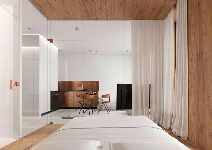 white studio apartment sirotov architects 3