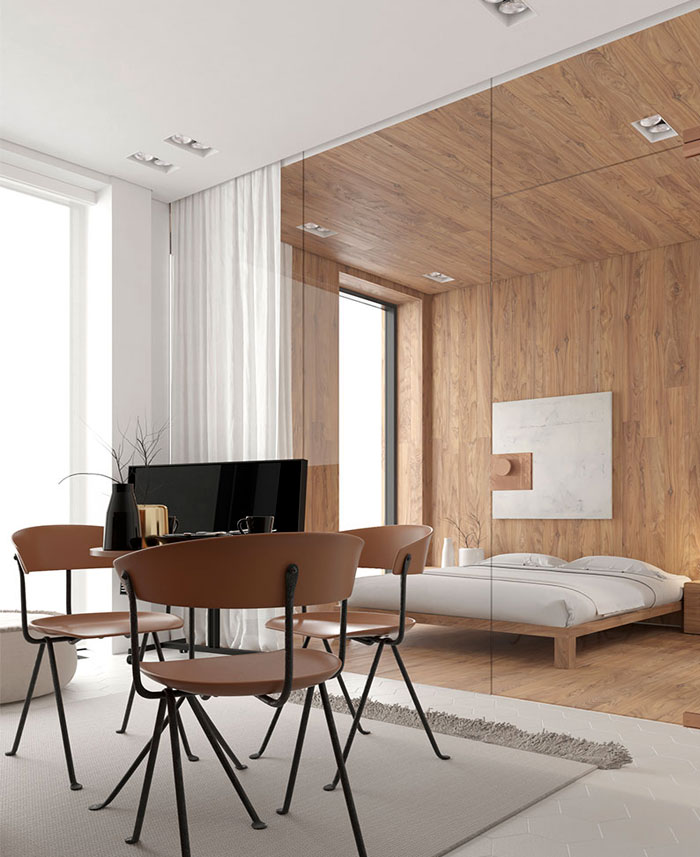 white studio apartment sirotov architects 5