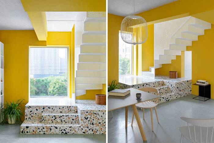 house p yellow apartment interiors mddm 1