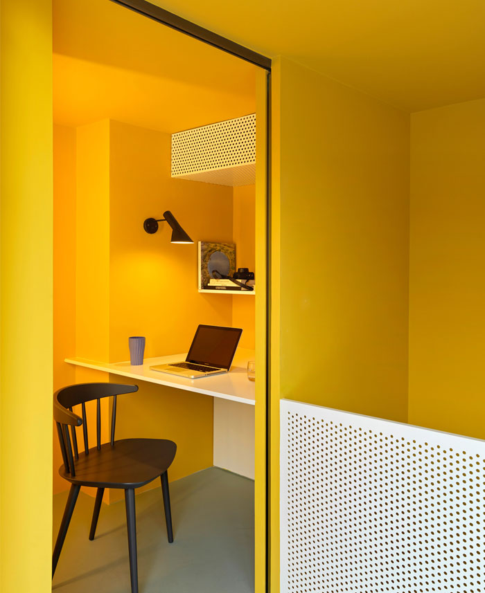 house p yellow apartment interiors mddm 11