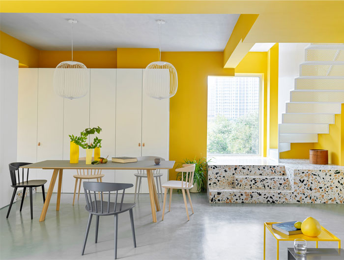 house p yellow apartment interiors mddm 3