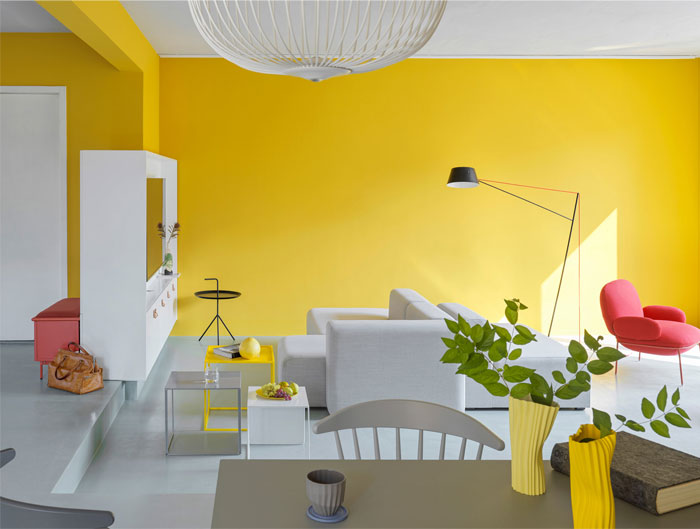 house p yellow apartment interiors mddm 4