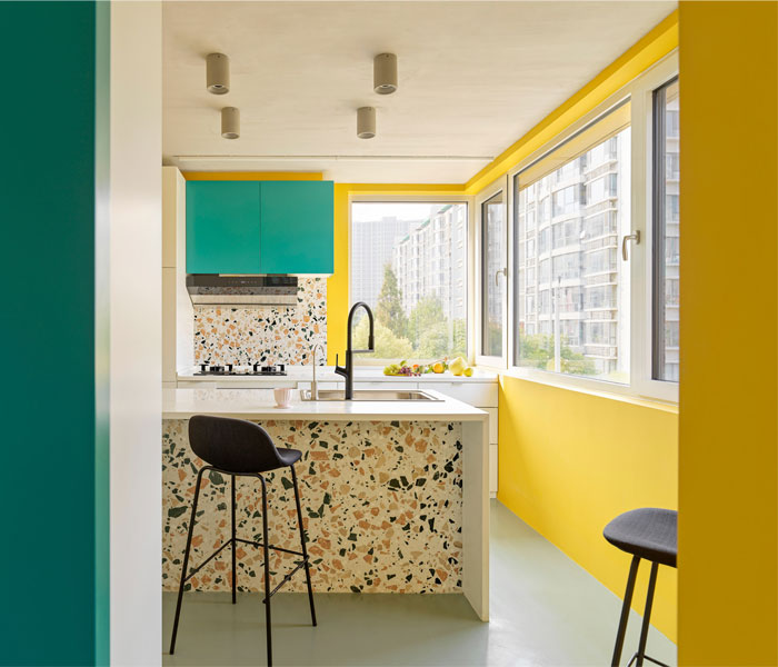 house p yellow apartment interiors mddm 6