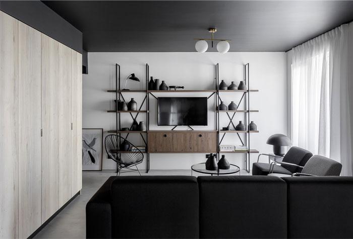 earth grey apartment bogdan ciocodeica studio 1