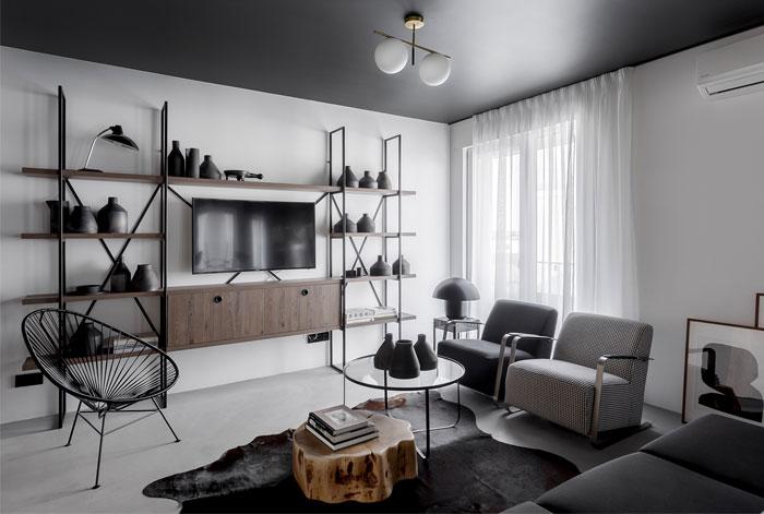 earth grey apartment bogdan ciocodeica studio 4