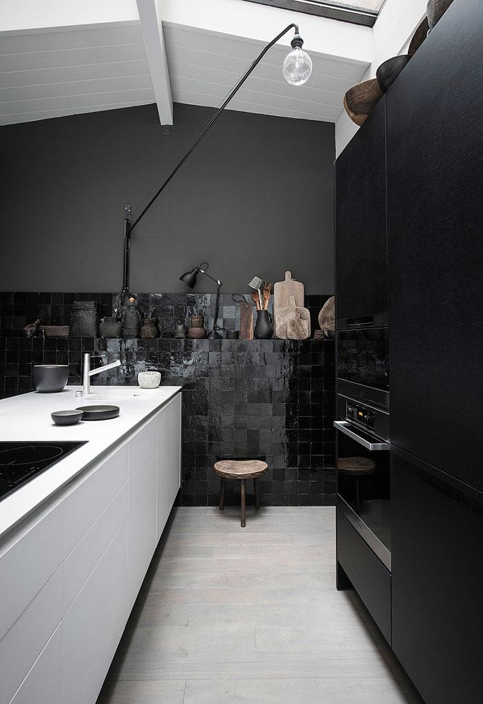 black and white kitchen decor