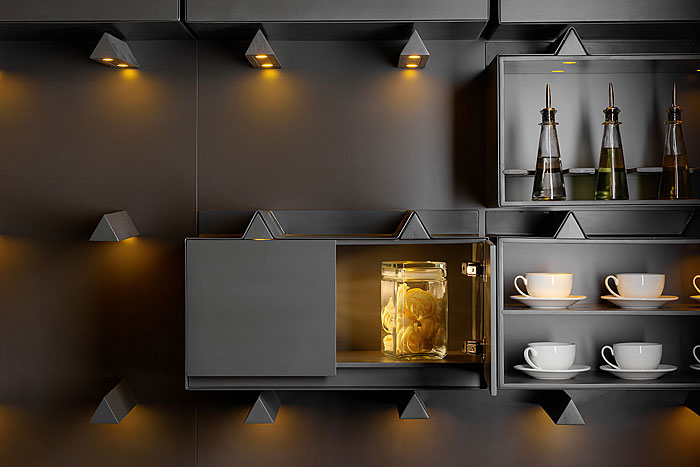 black industrial kitchen lights