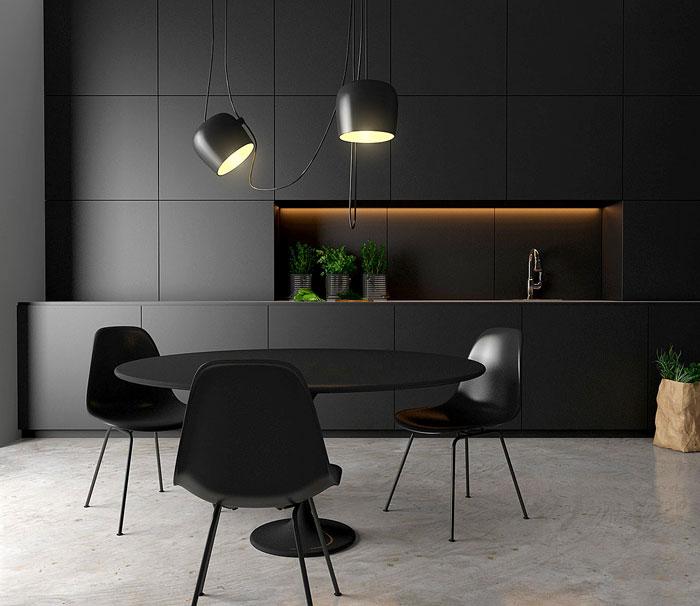 black kitchen cabinets design