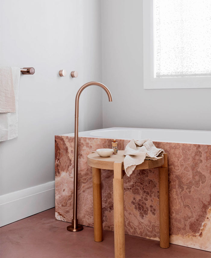 contemporary bathroom cave like interiors 14