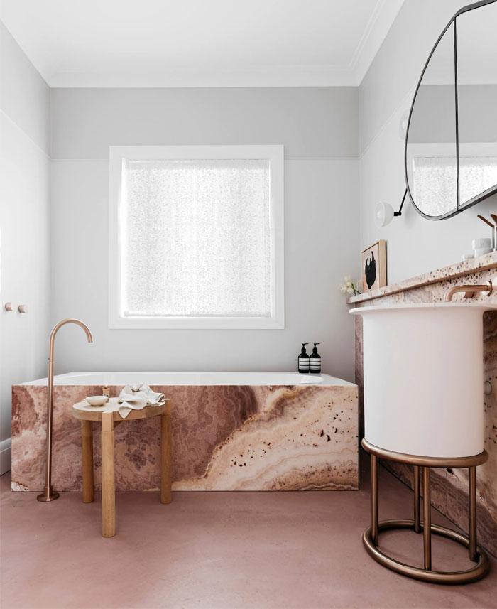 contemporary bathroom cave like interiors 15