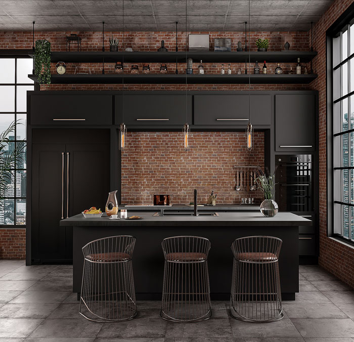 80 Black Kitchen Cabinets The Most Creative Designs Ideas Interiorzine