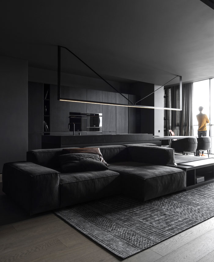 linearchitects apartment monochrome living divani products 15