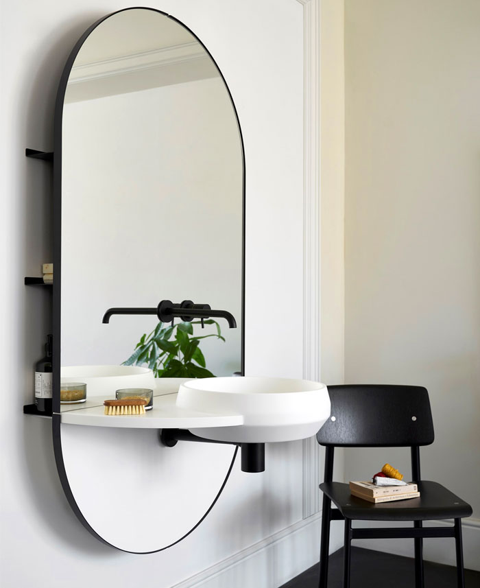 livingtec console sink with mirror arco