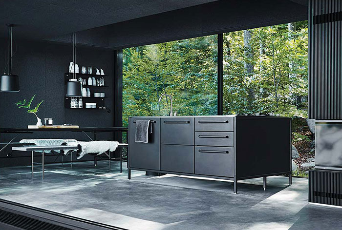 metal black kitchen cabinets forest view