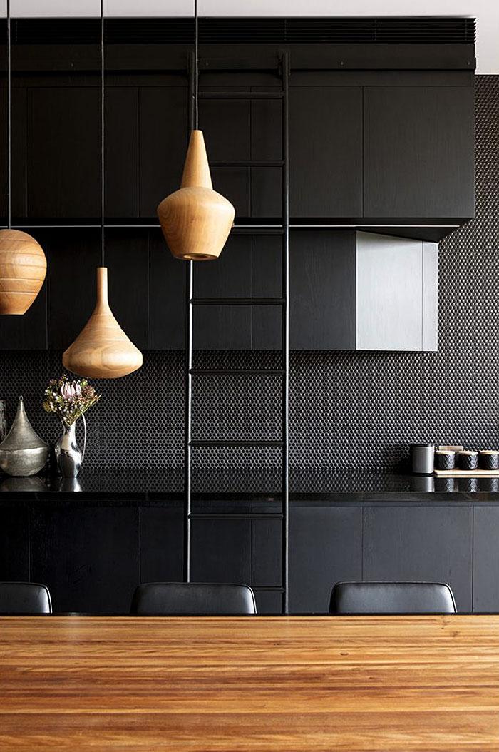 modern black kitchens designs ideas