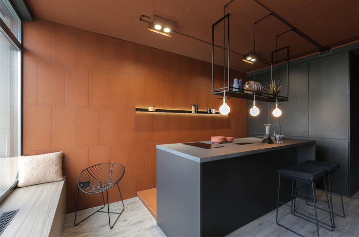 modern small black kitchen ideas