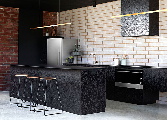 osb cabinets black kitchen