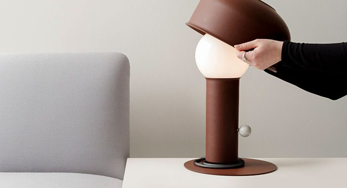 A Table Light with an Articulating Shade