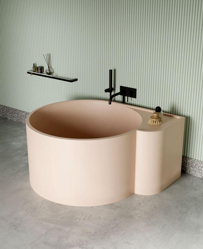 round livingtec bathtub nouveau bathtub