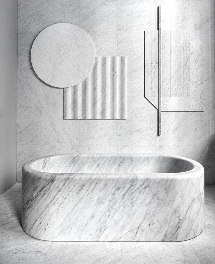 solid marble bathtub elisa ossino