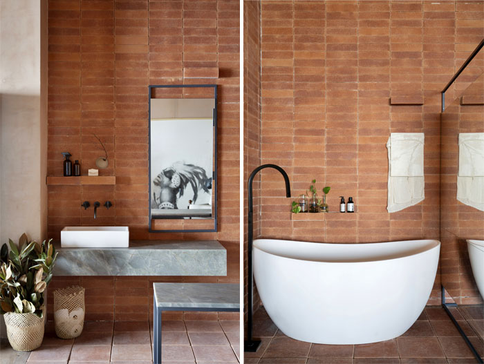 stylish examples natural materials bathroom 1