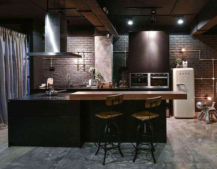 wiring decor black kitchen