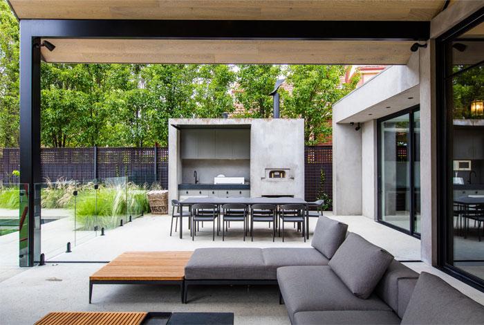 built in outdoor kitchen ian barker gardens 3